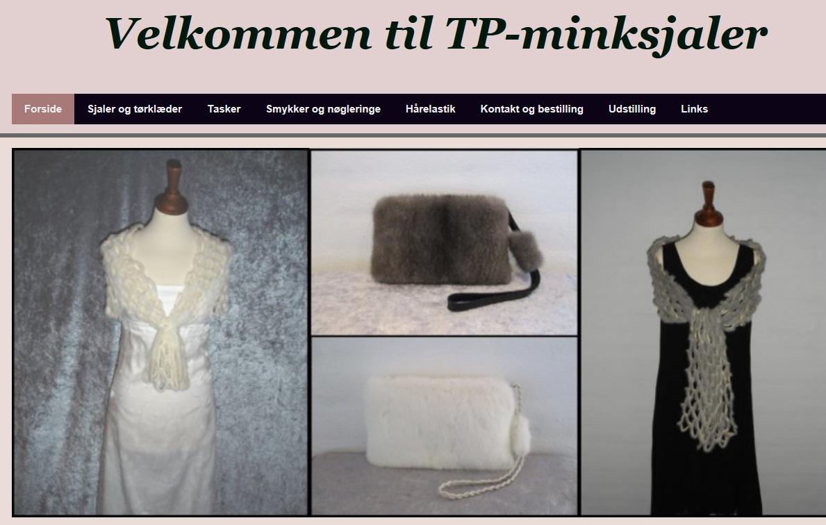 På hjemmesiden www.tp-minksjaler.dk kan du se nærmere på de fine produkter, som Tina Poulsen fra Søndbjerg fremstiller.