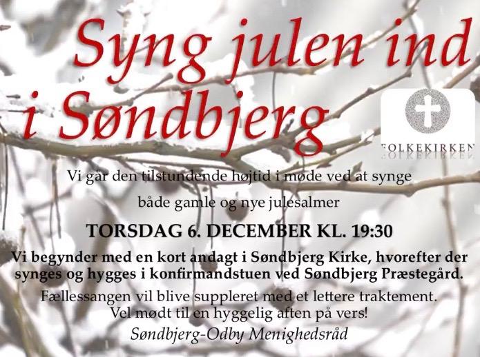 Menighedsrådet byder alle velkommen til en hyggelig aften på torsdag 6. december  med masser af julestemning.