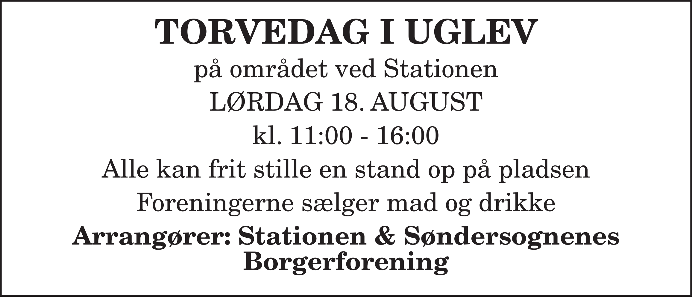 Torvedag annonce 18
